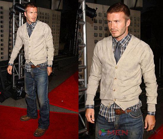 David Beckham cuốn hút cùng cardigan