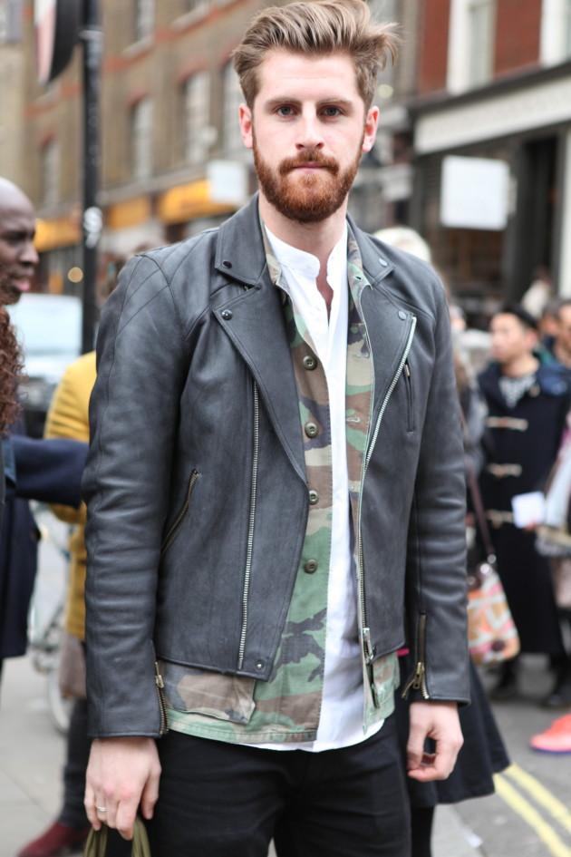 Street style nam: Mix đồ đông phong cách cùng áo da nam 11