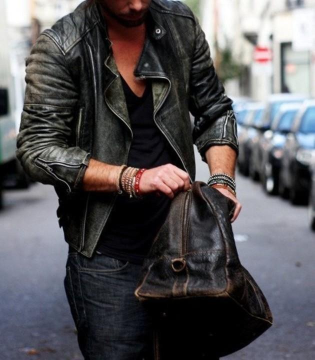 Street style nam: Mix đồ đông phong cách cùng áo da nam 12