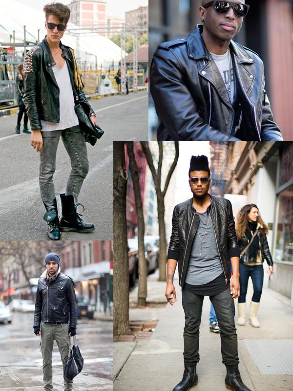 Street style nam: Mix đồ đông phong cách cùng áo da nam