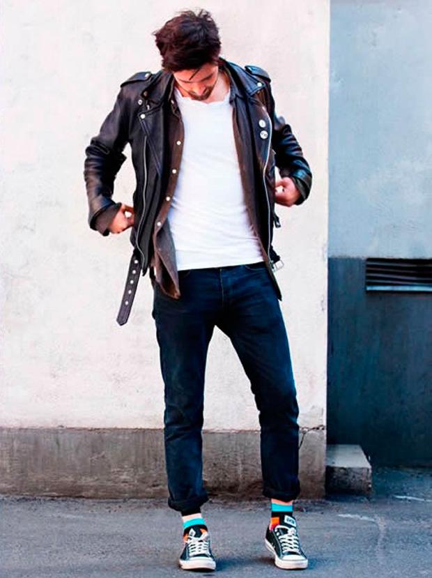 Street style nam: Mix đồ đông phong cách cùng áo da nam 6