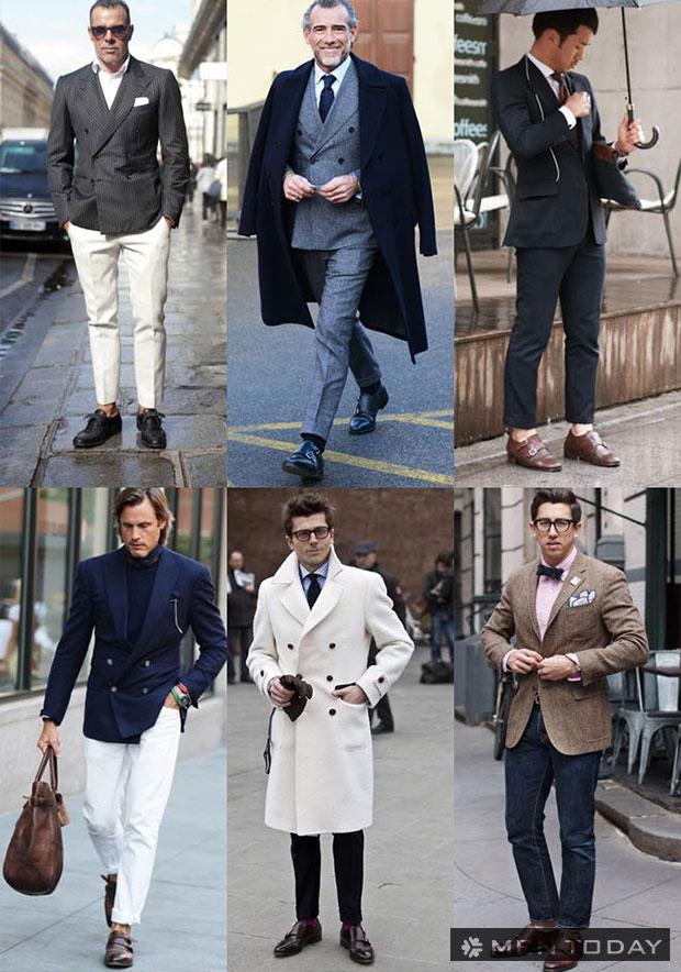 Cảm hứng Monk-strap từ street style từ các quý ông Châu Âu