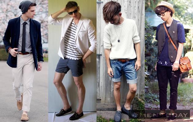 Những chàng trai trẻ trung và cá tính với loafers