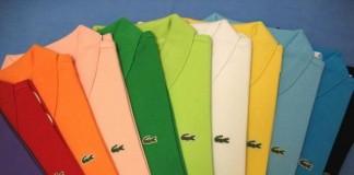 Những chiếc áo polo Lacoste màu sắc