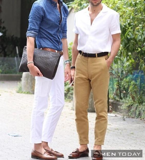 Các chàng đơn giản và thanh lịch cùng trang phục trắng