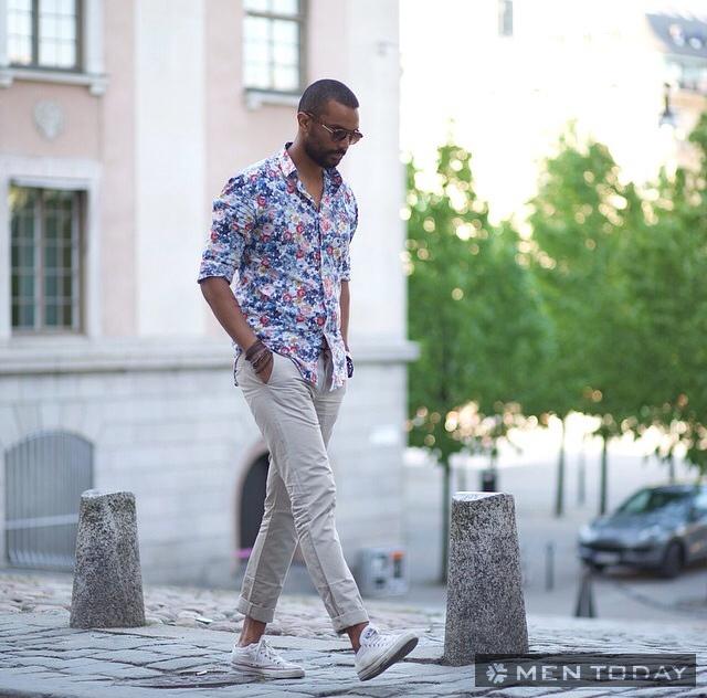 Sơ mi họa tiết cho chàng phong cách