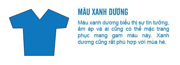 Ý nghĩa của trang phục màu xanh dương