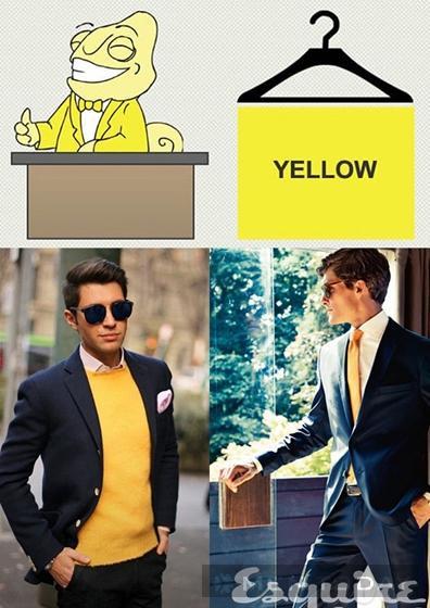 Mix đồ nam cùng màu vàng