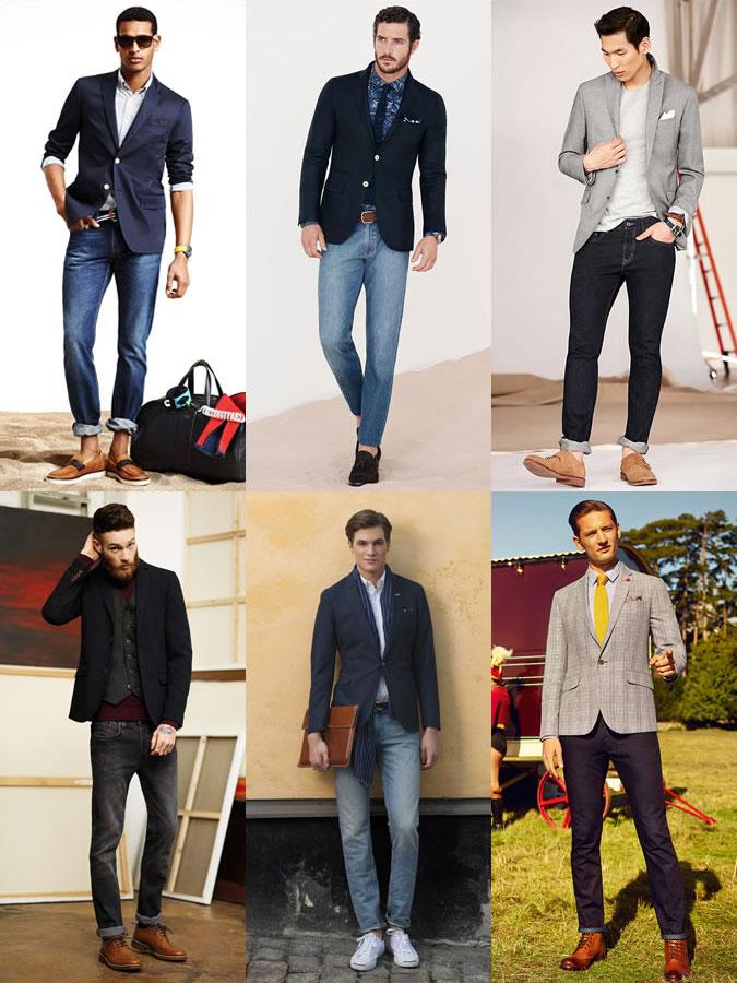 Phối Blazer nam & quần Jeans