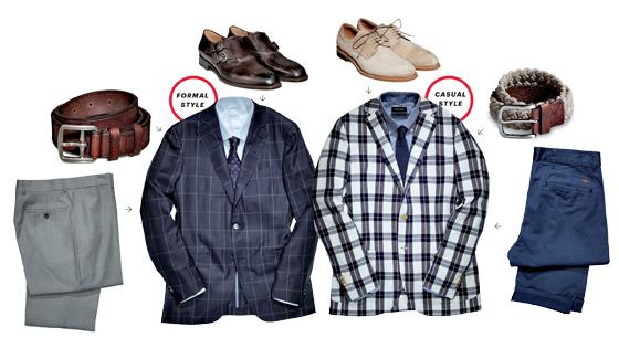 Một chiếc blazer và hai phong cách