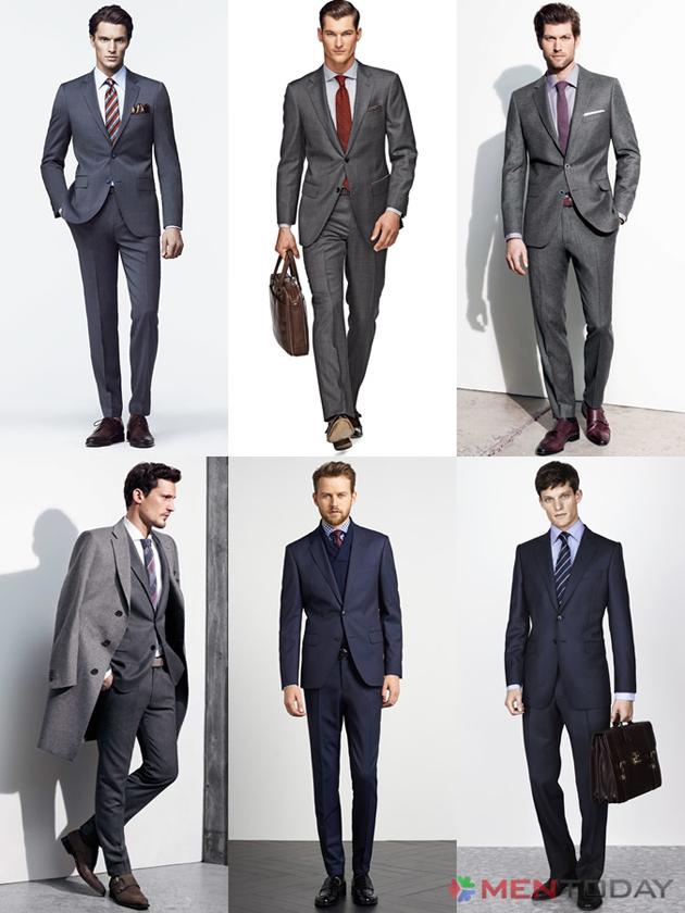 Những bộ suit màu xám cho phái mạnh