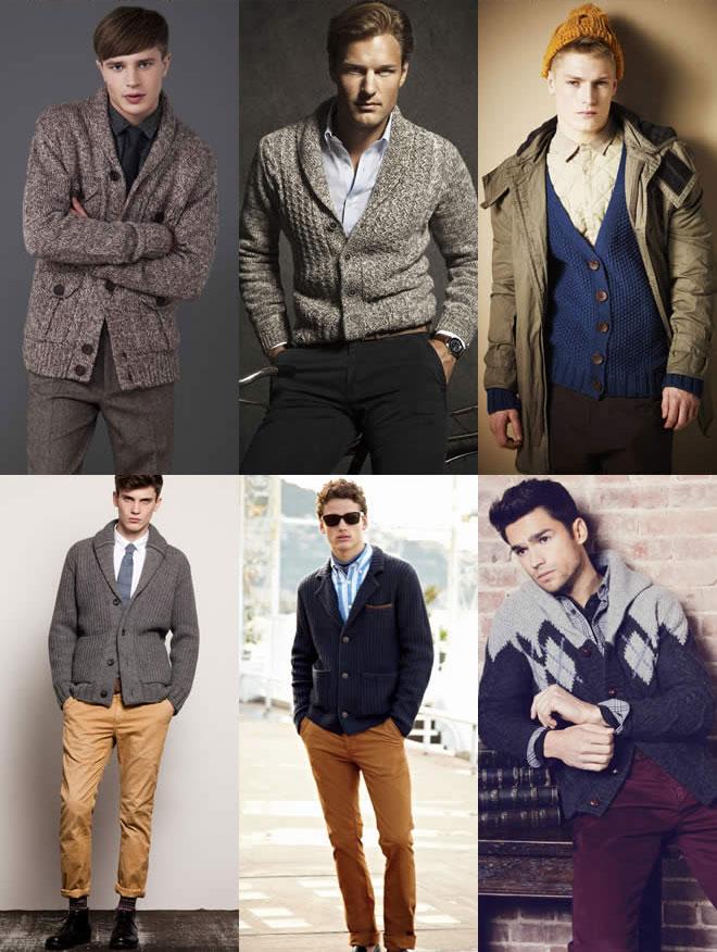Một số mẫu cardigan day dan cho chàng mùa đông