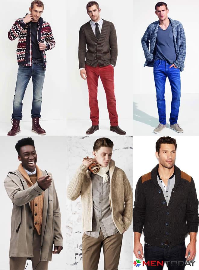 Gợi ý mix đồ nam mùa đông cùng áo cardigan dày dặn