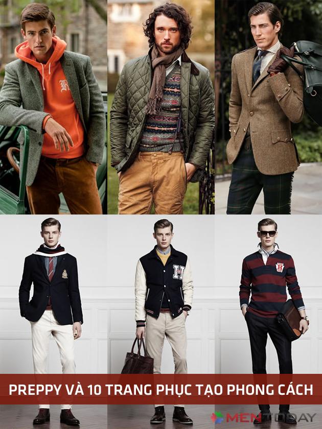 Preppy và 10 trang phục tạo phong cách