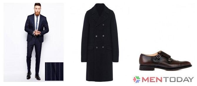 Tips mix đồ nam mùa đông cùng Officer coat