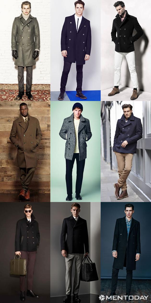 Những mẫu áo khoác pea coat đầy phong cách
