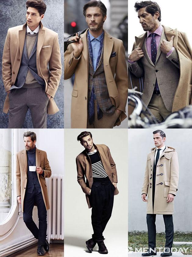 Những mẫu áo khoác màu camel dành cho thu đông 2014