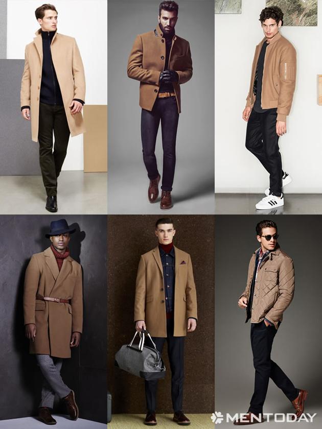 Những mẫu áo khoác màu camel