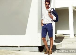 Mix đồ nam mùa hè cùng quần shorts