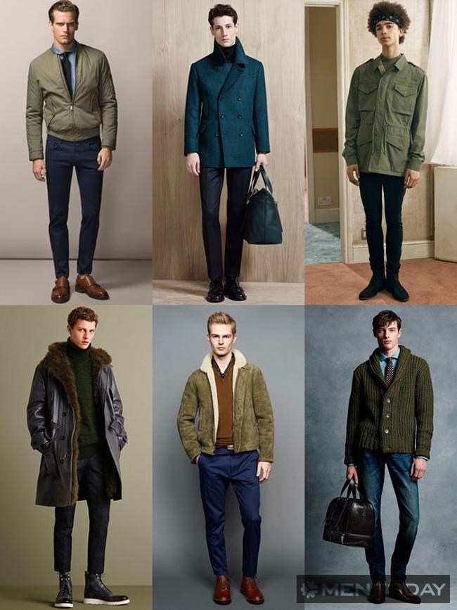 Tông màu xanh lá mùa thời trang 2015