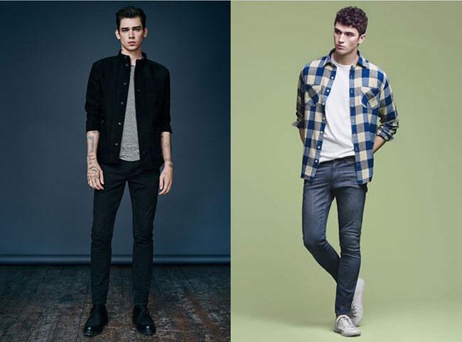 Áo sơ mi khoác ngoài kết hợp cùng jeans